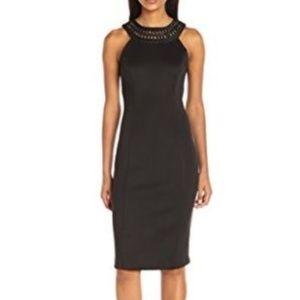 Jessica Simpson Women's Solid Midi Dress, Black